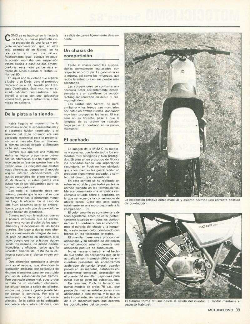 Motociclismo 748 - Abril 1982 - Puch Cobra M-82 C 0218