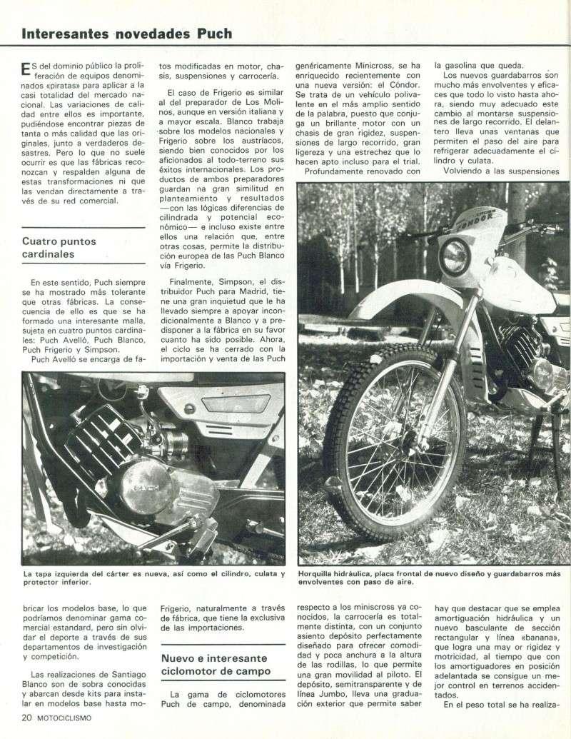 Motociclismo 728 - Noviembre 1981 - Puch MiniCross Condor/Frigerio 125 TT/250 Cross/Cobra TT Agua 0515