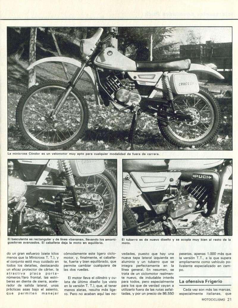 Motociclismo 728 - Noviembre 1981 - Puch MiniCross Condor/Frigerio 125 TT/250 Cross/Cobra TT Agua 0612