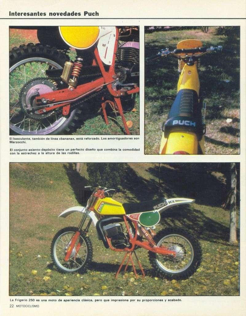Motociclismo 728 - Noviembre 1981 - Puch MiniCross Condor/Frigerio 125 TT/250 Cross/Cobra TT Agua 0712