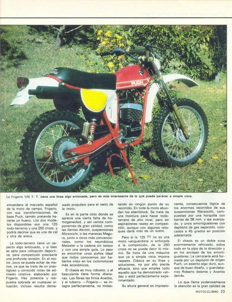 Motociclismo 728 - Noviembre 1981 - Puch MiniCross Condor/Frigerio 125 TT/250 Cross/Cobra TT Agua 0811