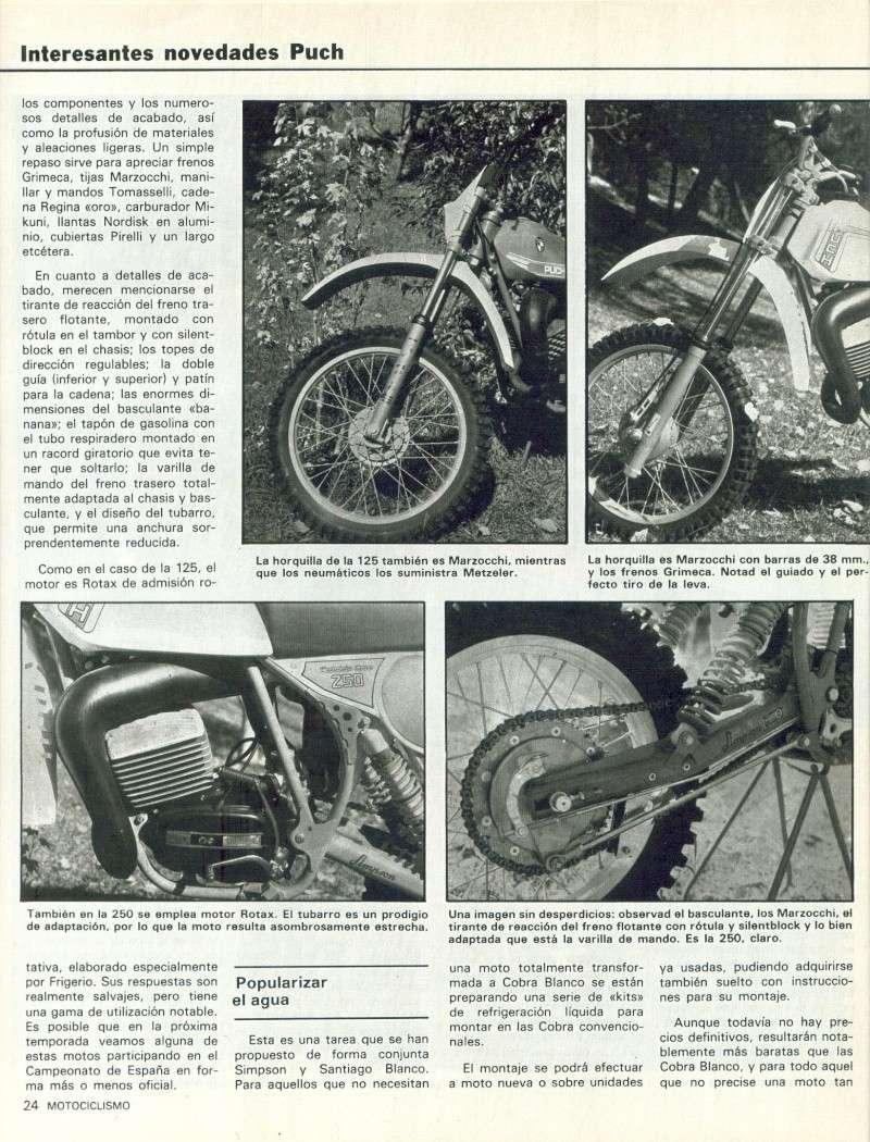 Motociclismo 728 - Noviembre 1981 - Puch MiniCross Condor/Frigerio 125 TT/250 Cross/Cobra TT Agua 0911
