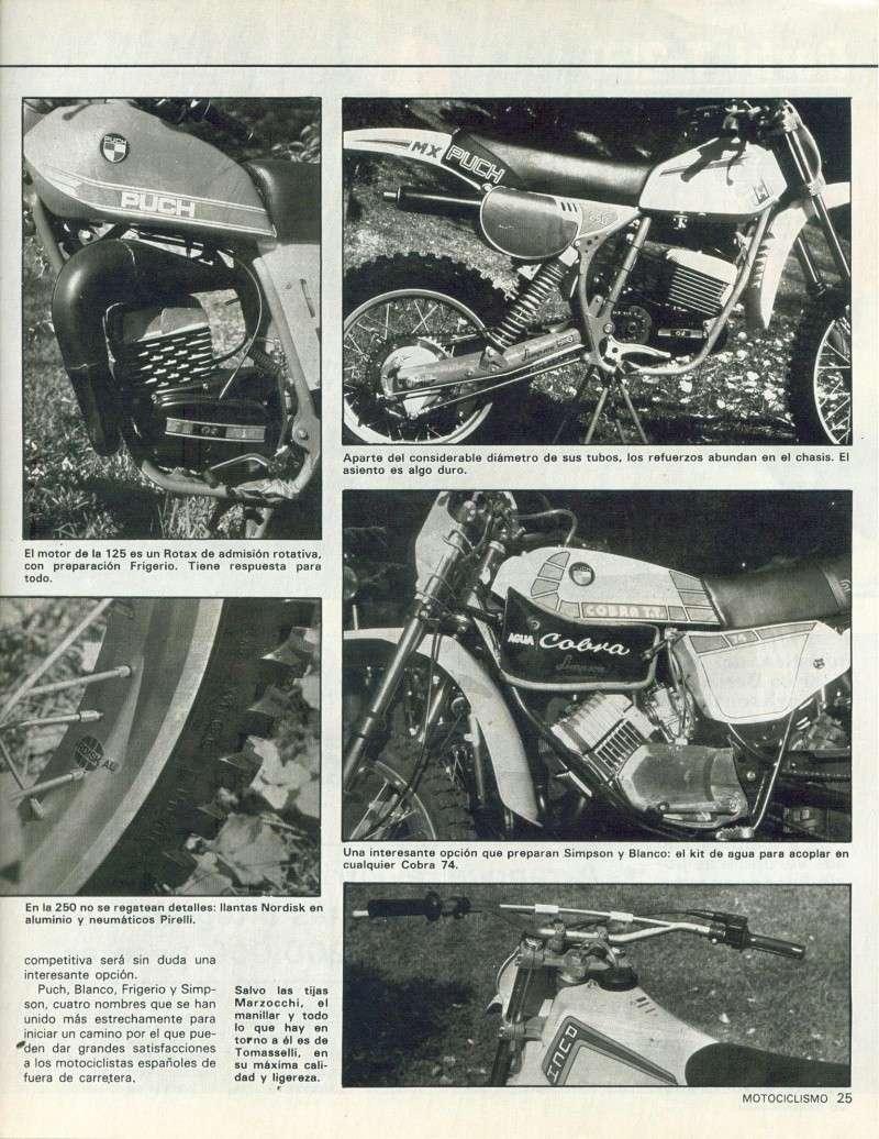 Motociclismo 728 - Noviembre 1981 - Puch MiniCross Condor/Frigerio 125 TT/250 Cross/Cobra TT Agua 1011