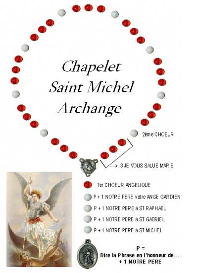 chapelet saint michel archange