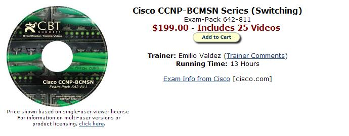Paquete de Certificación Cisco CCNP 85dhul10