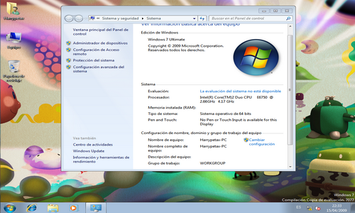 Microsoft Windows 7 Build 7077 RC 64 Bits [Español] M59qu310