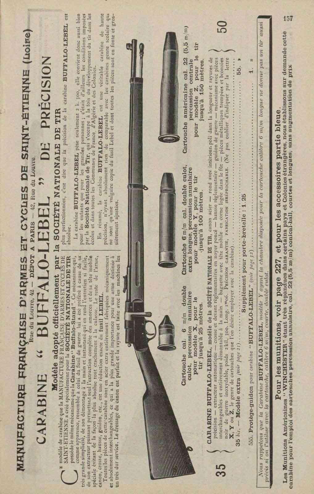 Carabine Buffalo Lebel Buffal10