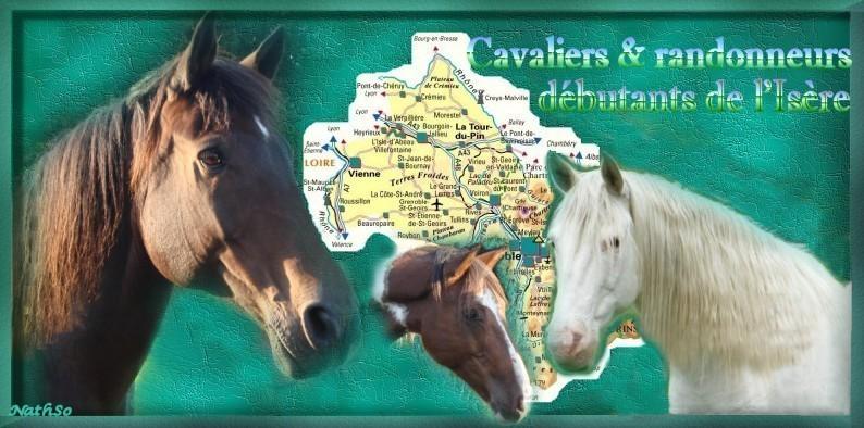 Cavaliers et randonneurs débutants de l'Isère