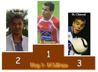 Le classement du Flop 3 saison 2008/2009 Podium13
