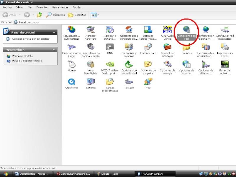 1. Configuracion de windows XP Dibujo16
