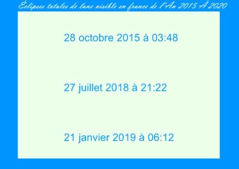 Calendrier des écplises lunaires de 2008 à 2020 (France) Sa10