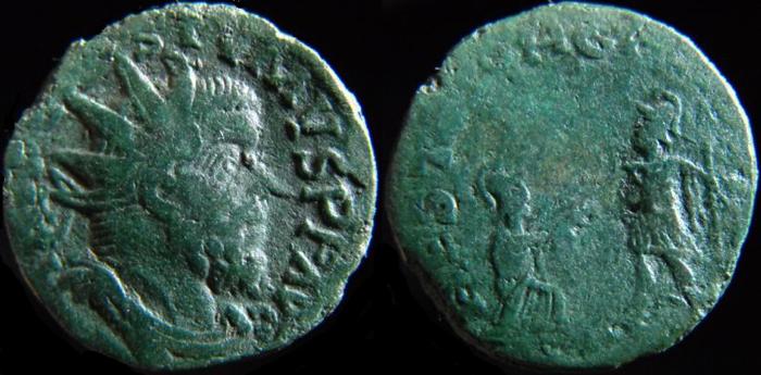 romaine - double sesterce de POSTUME  -  Liaison de coin ! Postum17