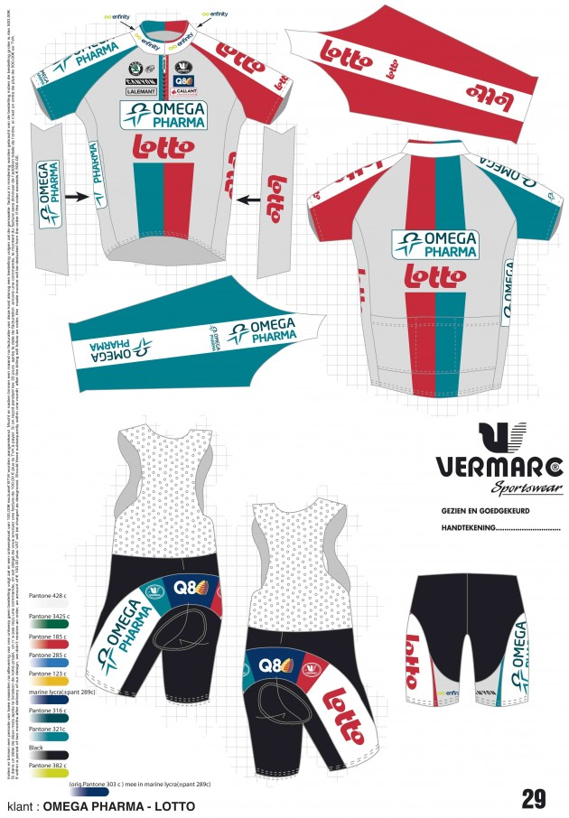 Maillots cyclistes pro 2011  Ontwer10