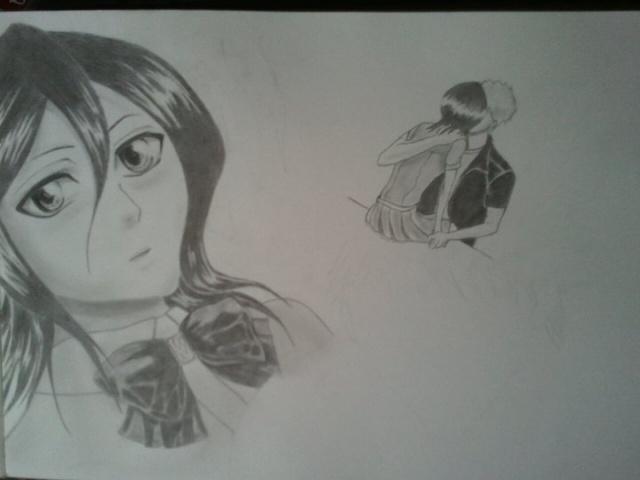 Manga (crayon graphite) Rukia_10