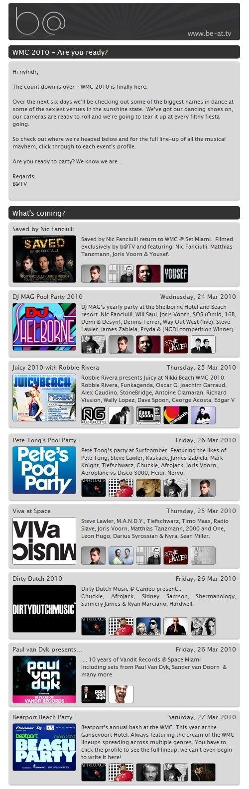 WMC 2010 EVENTS & LIVE BROADCASTS Dpzonc10