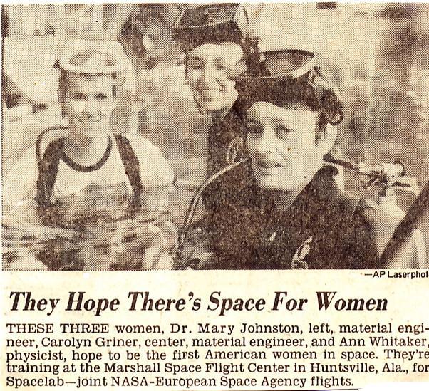 La place des femmes dans l'astronautique - Page 2 Griner10