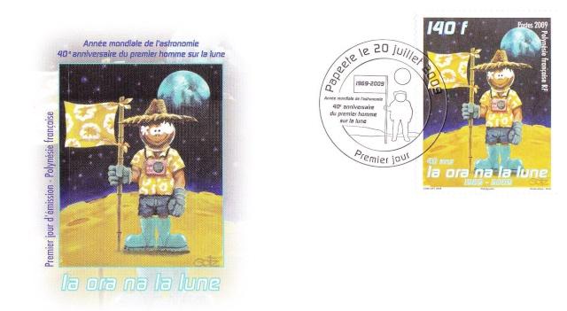 Astrophilatélie : 2 timbres français sur les 40 ans Apollo 11 Img_0016