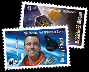 1961 - 2011 / La poste américaine émettra un timbre commémorant le Programme Mercury et Alan Shepard News-110