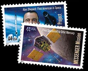 1961 - 2011 / La poste américaine émettra un timbre commémorant le Programme Mercury et Alan Shepard News-111