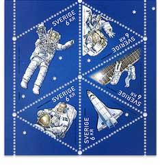 Astrophilatélie : Christer Fuglesang timbrifié S2418410