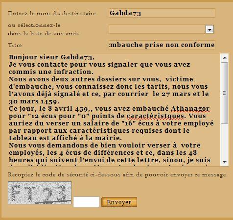 Bureau de dépöt des  Infractions aux Embauches, au Marché. - Page 10 Gabda711