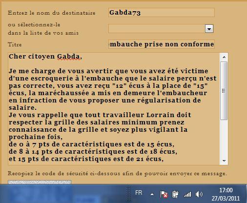 Bureau de dépöt des  Infractions aux Embauches, au Marché. - Page 9 Gabdav10