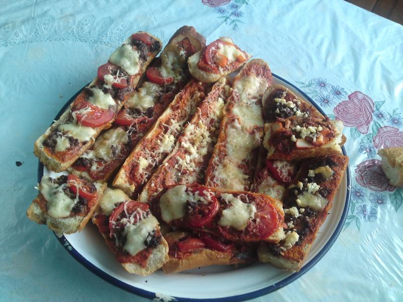 Recette facile 2: Les baguettes-pizzas P18-0611