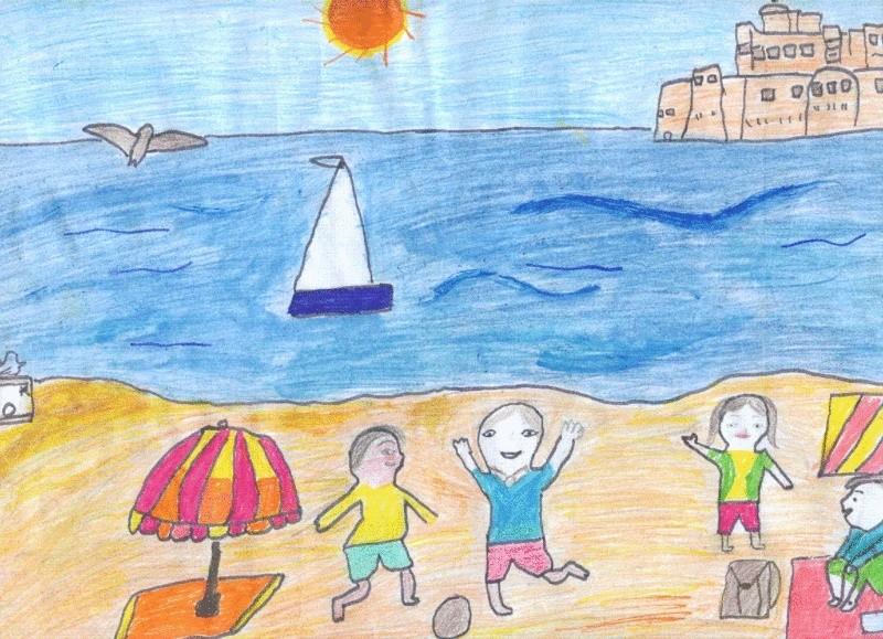 بعض رسومات إحدى طالبات الصف الثانى الإعدادى Israa112