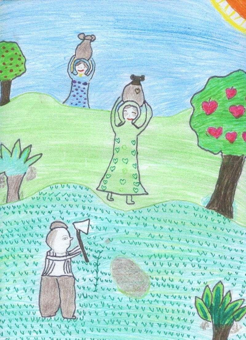 بعض رسومات إحدى طالبات الصف الثانى الإعدادى Israa510