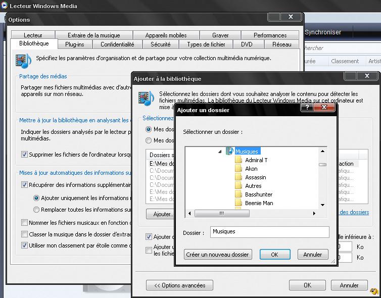 [TUTO] Changer la liste Par défaut des Dossiers surveillé par WMP Wmp11