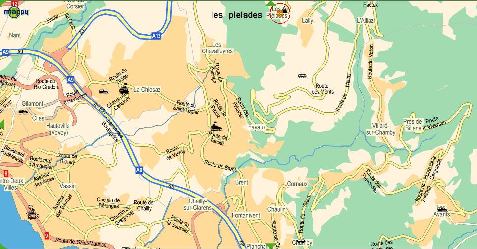 Marais des Tenasses (Les Pléiades-Blonay (1807)-Vaud) Carte-10