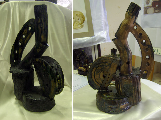 من أعمال السنة الثالثة خزف 2008-09 Céramique Xl800111