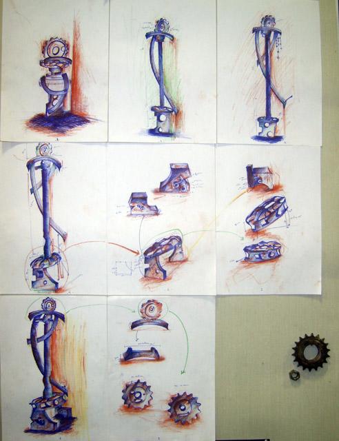 من أعمال السنة الثالثة خزف 2008-09 Céramique Xl800116