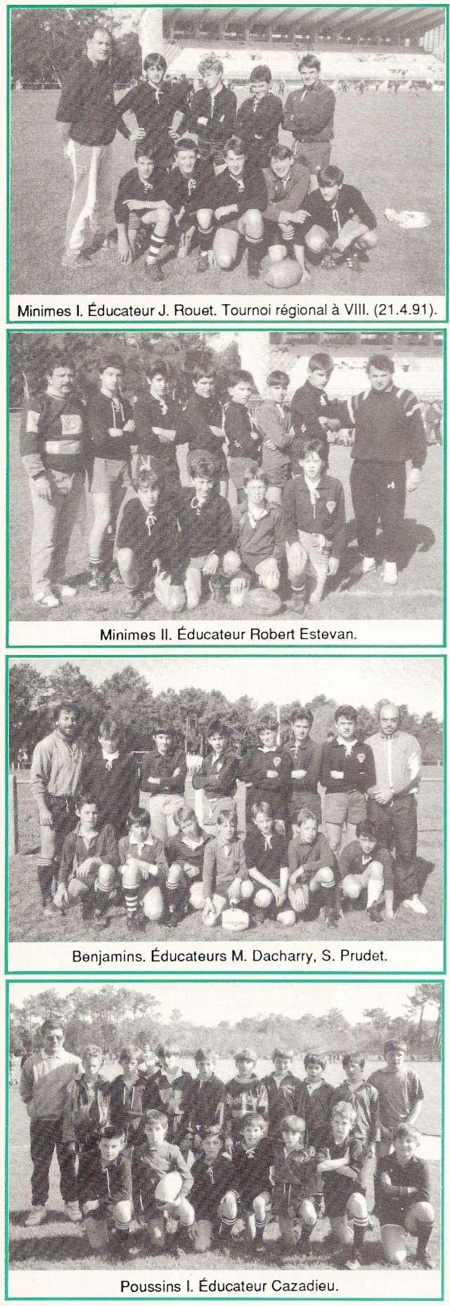 Photos Ecole De Rugby..... D'hier à aujourd'hui. 1991_a10
