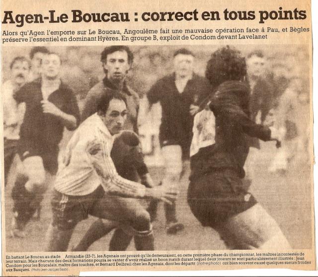 Saison 1984/85 (dernier 16ème de Finale de 1ère Division) Agen_b14