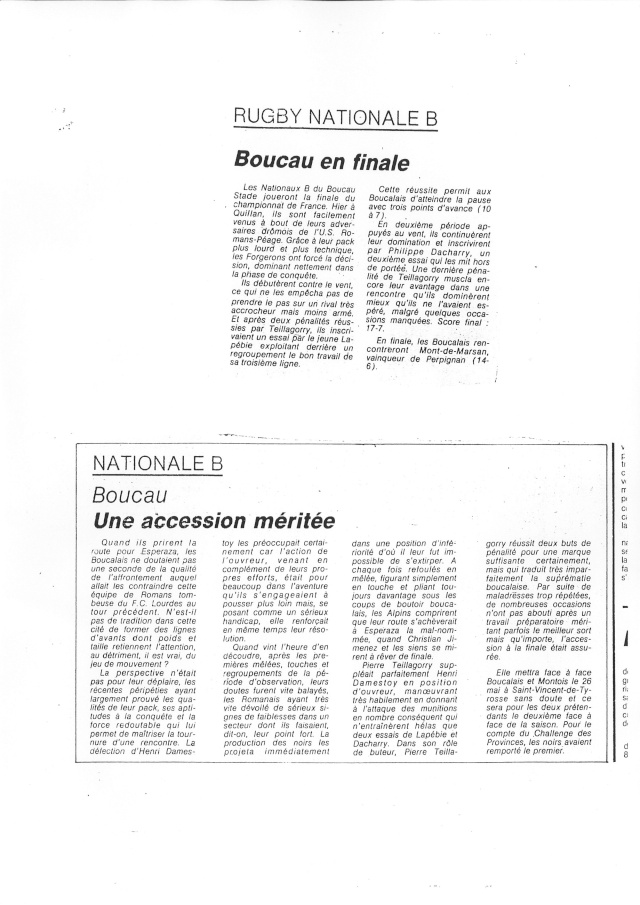 1982... La Nationale B, Champion de France Articl24