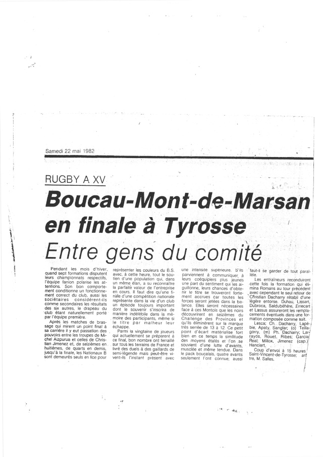 1982... La Nationale B, Champion de France Articl27