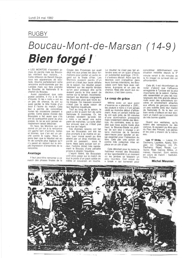 1982... La Nationale B, Champion de France Articl29