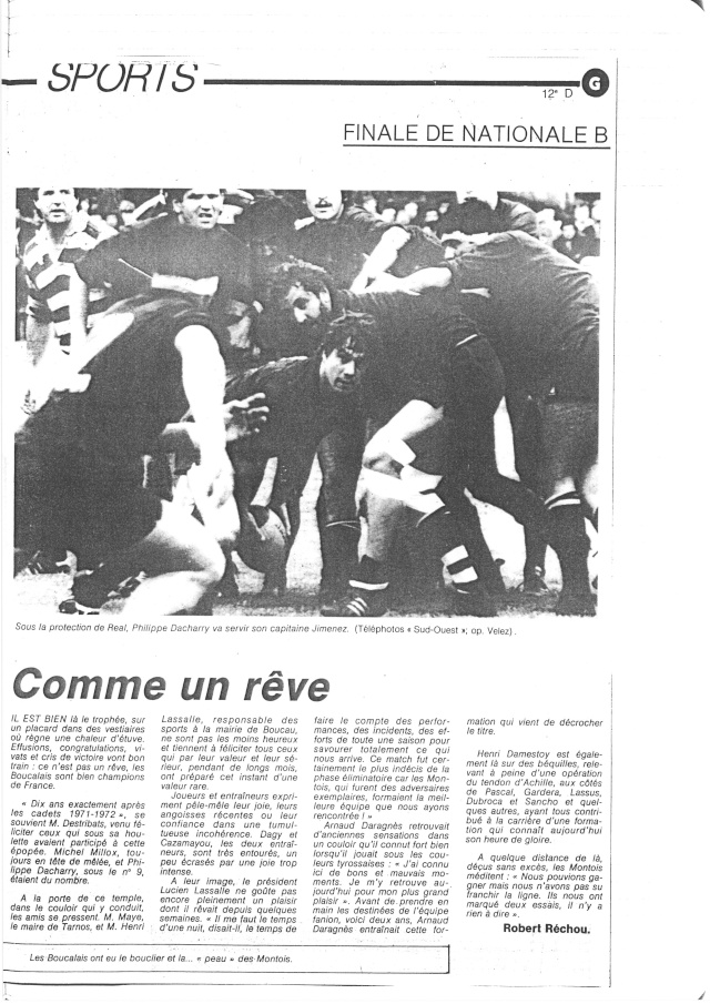 1982... La Nationale B, Champion de France Articl30