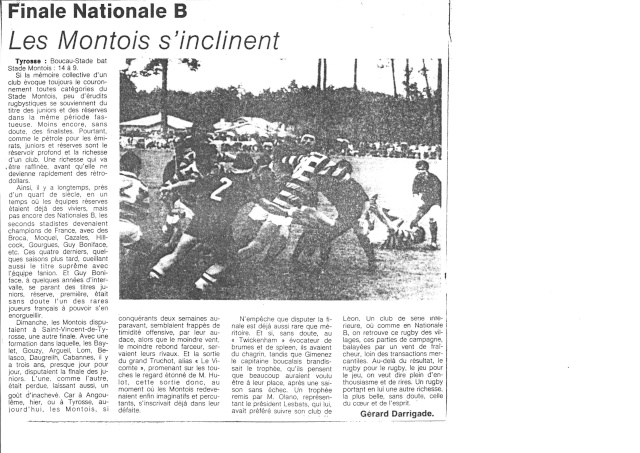 1982... La Nationale B, Champion de France Articl31