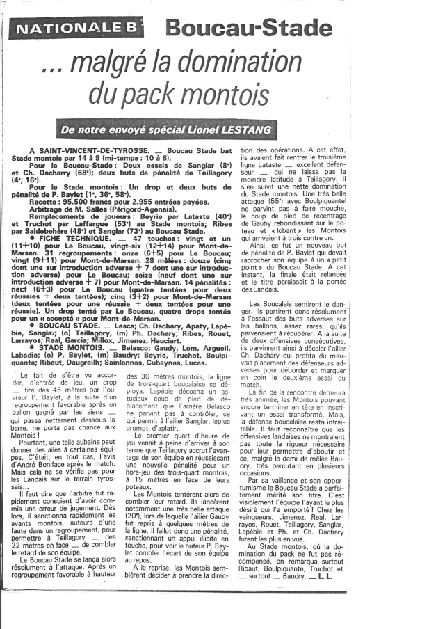 1982... La Nationale B, Champion de France Articl32