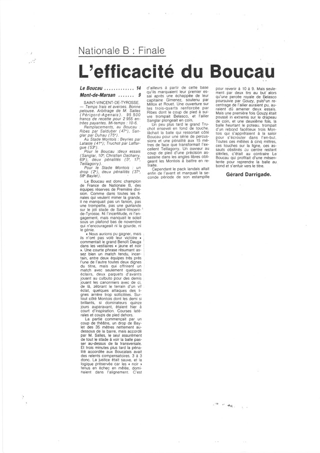 1982... La Nationale B, Champion de France Articl33