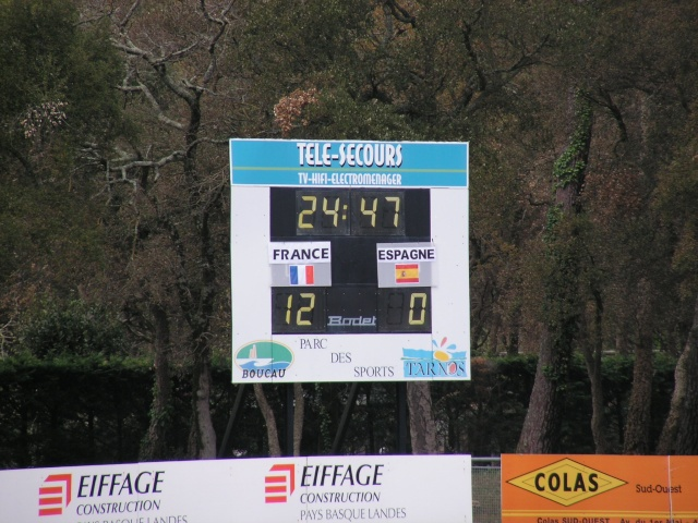 FRANCE-ESPAGNE à Tarnos. Avril151