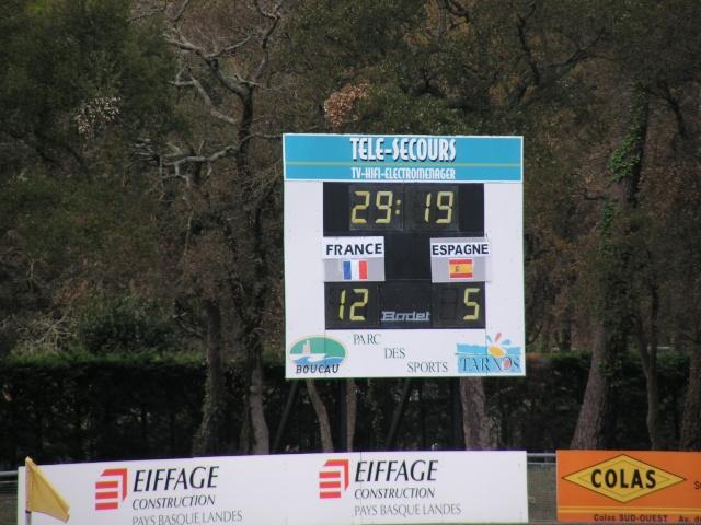FRANCE-ESPAGNE à Tarnos. Avril153