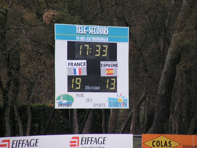 FRANCE-ESPAGNE à Tarnos. Avril170