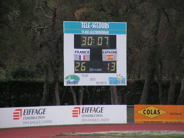 FRANCE-ESPAGNE à Tarnos. Avril180