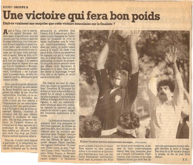 Saison 1984/85 (dernier 16ème de Finale de 1ère Division) Bs_age11