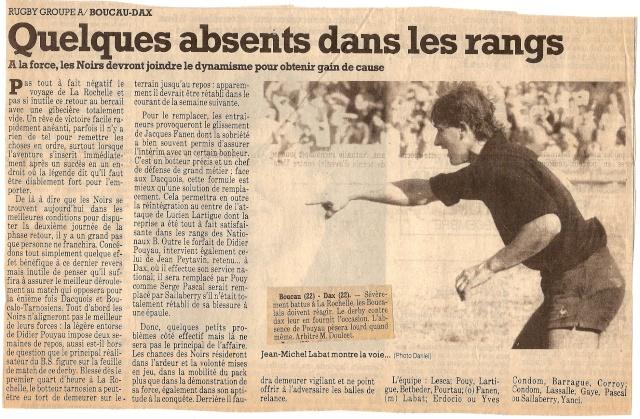 Saison 1984/85 (dernier 16ème de Finale de 1ère Division) Bs_dax11