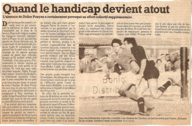Saison 1984/85 (dernier 16ème de Finale de 1ère Division) Bs_dax12