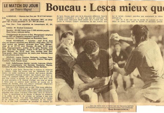 Saison 1984/85 (dernier 16ème de Finale de 1ère Division) Bs_dax16